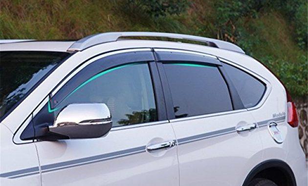 cool behave yd314w windabweiservorne fensterdeflektorauto fenster schutzrahmenauto fensterfuhrungsrahmen1 satz von 4 stuckenschwarz transparent geeignet fur honda cr v 2014 2015 2016 foto