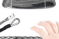 cool gaodaweian 10mm x 30m synthetisches windenseil schnurwiederherstellungskabel ultrahochfestes di lima abschleppseil offroad fahrzeug windenseil schiff yacht starkes pferd seil bild