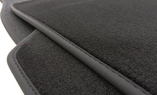 cool kh teile fussmattenvelours automatten premium qualitat stoffmatten 4 teilig schwarz nubukleder einfassung foto