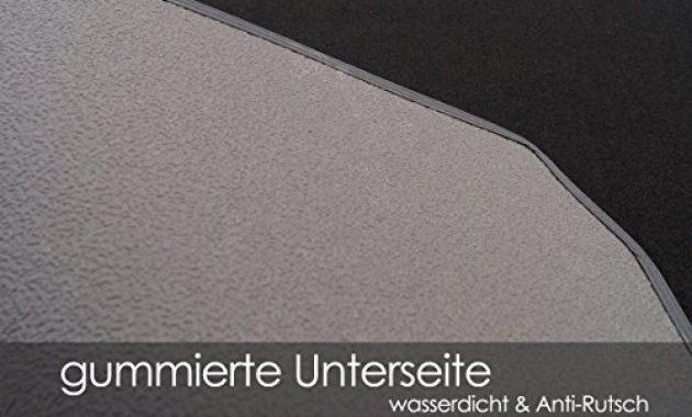 cool kh teile kofferraummatte velours automatte premium qualitat stoffmatte schwarz nubukleder einfassung mit weisser naht bild