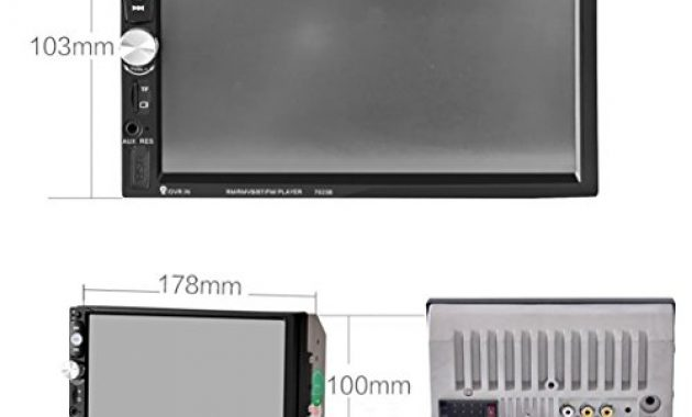 cool lacaca 178 cm hd touchscreen indash auto stereo mp5 player unterstutzung bluetooth fmsdusbaux eingang freisprechfunktion anrufe macht ausgang fernbedienung foto