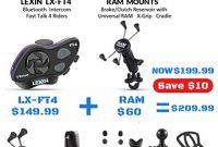 cool lexin ft4 ram mount combo kitmotorrad headset bluetooth kommunikationssystem bis zu 4 gesprachsteilnehmer mit 2000m reichweite fur motorradhelm motorrad halterung x grip fur handy und n foto