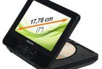 cool medion portabler dvd player mit 2x 1778 cm lcd farbmonitor usb cardreader dekra gepruft mit pkw befestigungskits foto