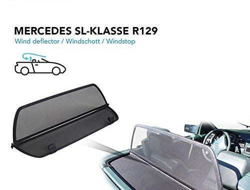 cool mercedes benz windschott sl klasse schwarz 100 passgenau oem qualitat bild