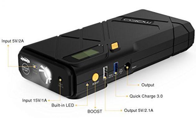 cool moko 12000mah auto starthilfe 1200a spitzenstrom auto anlasser autostartshilfe jump starter kfz starthilfe energiestation autostatshilfe mit qc30 ausgang und led notfalllicht gelb foto