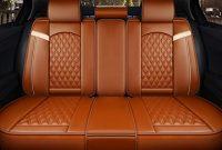 cool sitzbezuge auto universal setleder sitzkissen fur die vordersitze und ruckbank sitzauflagen sitzschutz color orange bild