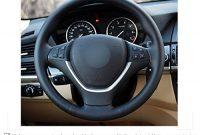 erstaunlich 3d style schwarz leder schwarz wildleder auto lenkradhulle fur e70 x 5 2008 2013 e71 x 6 2008 2014 foto