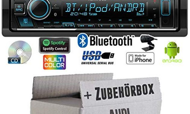 erstaunlich autoradio radio kenwood kdc bt530u bluetooth spotify iphone android cdmp3usb einbauzubehor einbauset fur audi a6 c4 just sound best choice for caraudio bild