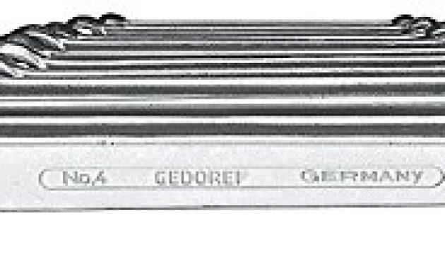 erstaunlich gedore 4 120 doppelringschlussel satz gerade ausfuhrung nach din 837 form b flach mit dunnwandigen ringen verchromt mit ud profil 12 teilig 6 32 mm foto