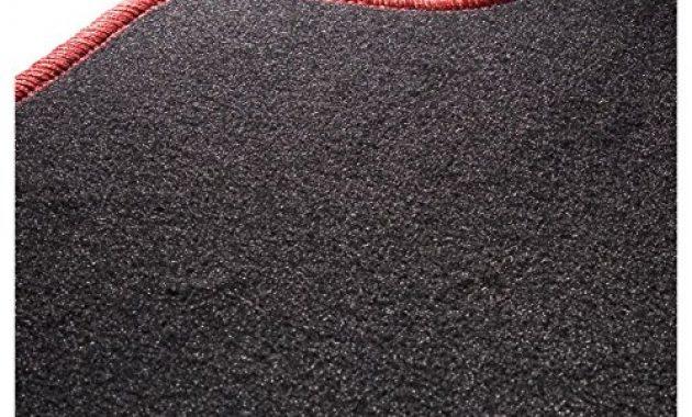 erstaunliche carfashion 282132 starlight passform auto fussmatten tuft velour automatte polyamid velours fussmatte in schwarz rote hochglanz kettelung 4 teiliges auto fussmatten set mit foto