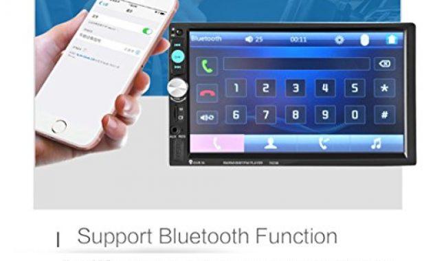 erstaunliche lacaca 178 cm hd touchscreen indash auto stereo mp5 player unterstutzung bluetooth fmsdusbaux eingang freisprechfunktion anrufe macht ausgang fernbedienung bild