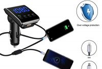 erstaunliche lutu bluetooth fm transmitter autokfz radio bluetooth adapter mit ladekabel dual usb ladegerat 5v 31aunterstutzt tf kartenusb flash drive und freisprecheinrichtung foto