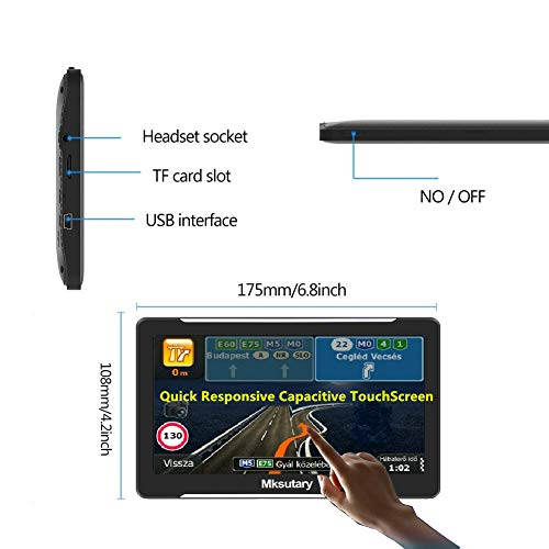 erstaunliche navigationsgerate fur auto gps 7 zoll pkw lkw navi navigation fuer auto europa kostenloses kartenupdate navigationsgerat mit sprachsteuerung hohe helligkeit kapazitiver touc foto
