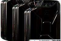 erstaunliche oxid7 3x benzinkanister kraftstoffkanister metall 20 liter schwarz mit un zulassung tuv rheinland zertifiziert bauart gepruft fur benzin und diesel bild