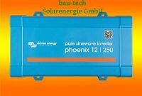 erstaunliche spannungswandler victron phoenix 12v 250watt vedirect reiner sinus inverter von bau tech solarenergie gmbh foto