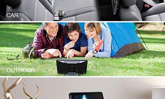 erstaunliche tablet android 60 i tragbarer dvd player 101 zoll i ips touchscreen autokopfstutze multimedia monitor i bluetooth 40 i eingebauter 4000mah akku unterstutzt hdmi fm wifi foto
