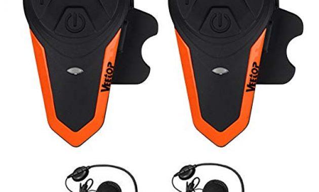 erstaunliche veetop motorrad bluetooth headset bis zu 3 benutzer 2er set intercom bild
