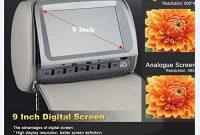 erstaunliche vrsamwbbmml auto kopfstutze 9 zoll 2019 digitaler high definition dvd grossbildschirm audio video tv player unterstutzt das mp5 format spielemodus schwarz foto