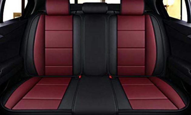 fabelhafte adhw luxus sitzbezuge autoleder fur auto schonbezuge sitzbezug 5 sitze 9 stuck farbe red foto