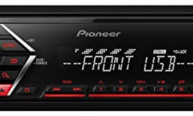 fabelhafte caraudio24 pioneer mvh s100ub usb aux mp3 1din autoradio fur opel corsa c iso 2000 2004 aluminium bild