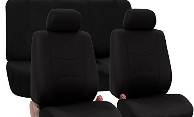 fabelhafte fh group fb050black114 vollen satz flachgewebe autositzbezuge schwarz anzahl 8 foto