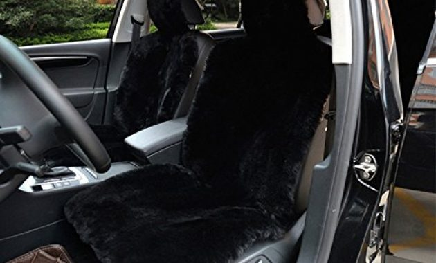 fabelhafte imqoq 2er lammfellbezug auto sitzbezug lammfell vordersitzbezug universal schwarz bild