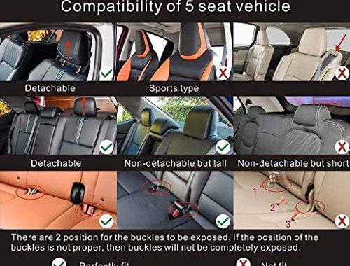 fabelhafte sitzbezuge auto universal setleder sitzkissen fur die vordersitze und ruckbank sitzauflagen sitzschutz color orange foto