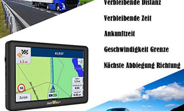 fabelhafte sunways navi 5 zoll navigation fur auto touchscreen lkw navigationsgerat mit blitzerwarnung sprachfuhrung fahrspurassistent mit eu uk 52 karten 2019 ausfuhrung lebenslang eu karten bild