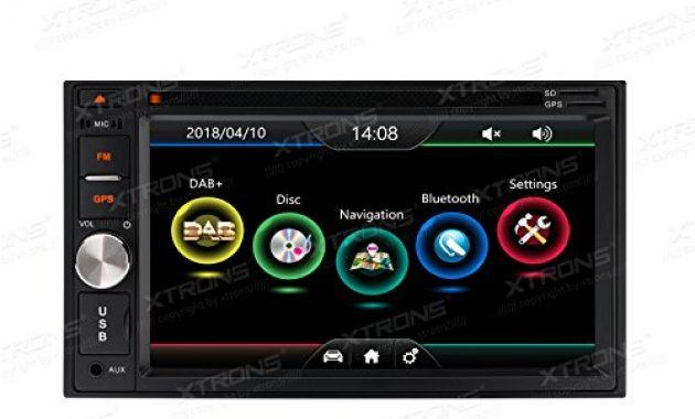 fabelhafte xtrons 62 hd tft touchscreen double din autoradio auto naviceiver dvd player unterstutzt dab gps navigation bluetooth50 2din rds lenkradfernbedienung windows ce foto