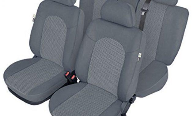 fabelhafte zentimex z924361 sitzbezuge vordersitze ruckbank stoff grau airbag kompatibel foto