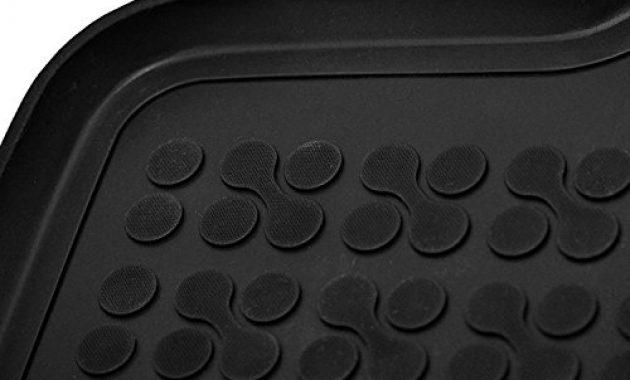 fantastische ame set auto gummimatten fussmatten mit schmutzrand geruch vermindert anti rutsch oberflache und befestigungskit kofferraum wanne schutzmatte fur den laderaum 200319rg 23203 foto