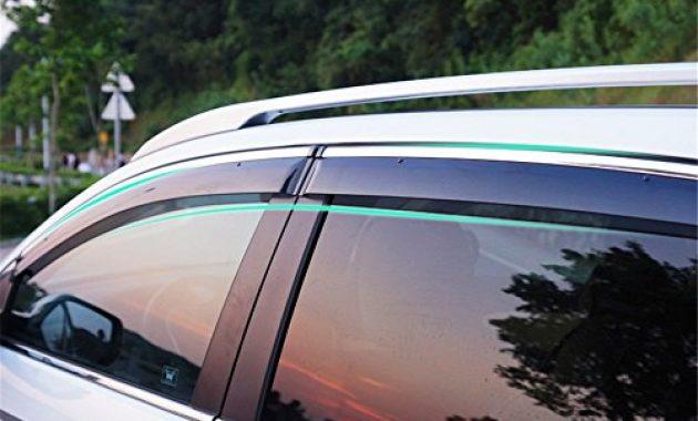 fantastische behave yd314w windabweiservorne fensterdeflektorauto fenster schutzrahmenauto fensterfuhrungsrahmen1 satz von 4 stuckenschwarz transparent geeignet fur honda cr v 2014 2015 2 foto