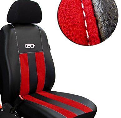 fantastische pokter gt t5 caravelle fahrersitz und beifahrersitz massgefertigte sitzbezuge design gt rot bild