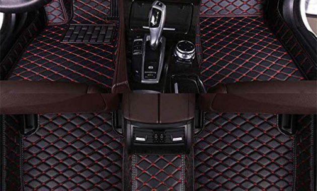 fantastische tuqiang auto fussmatten leder passt fur a udi q7 7 seats 2006 2015 3d volldeckung wasserdichte bodenmatten automatten schwarz mit rot foto