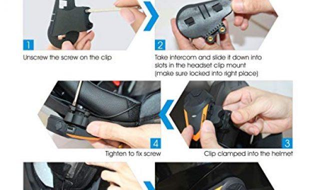 fantastische veetop motorrad bluetooth headset bis zu 3 benutzer 2er set intercom foto