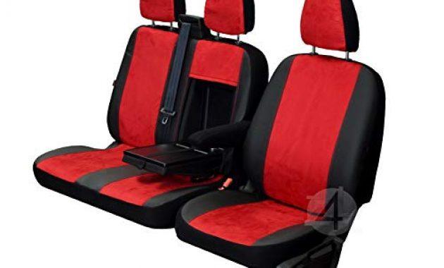 fantastische z4l sitzbezuge custo rot schwarz passgenau ideal angepasst kleintransporter 4dv cu 3m jdb 02 bild