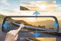grossen awesafe dashcam ruckspiegel 10 zoll full hd touchscreen 1080p frontkamera und 1080p wasserdichte ruckfahrkamera streaming autokamera bild