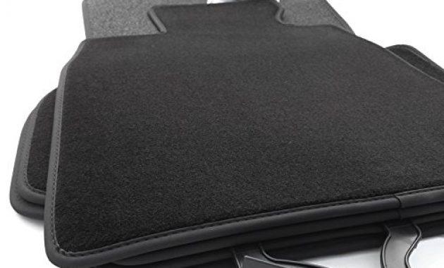 grossen kh teile fussmattenvelours automatten premium qualitat stoffmatten 4 teilig schwarz nubukleder einfassung bild