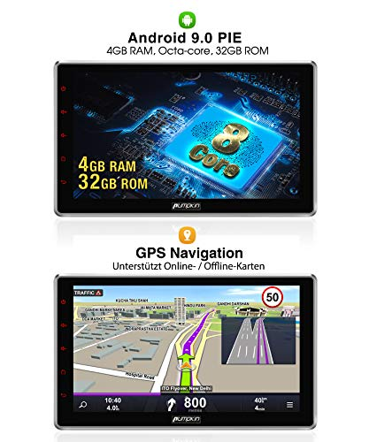 grossen pumpkin android 90 autoradio moniceiver 4gb 8 core mit navi 101 zoll bildschirm unterstutzt bluetooth dab usb android auto wifi 4g microsd 2 din universal foto