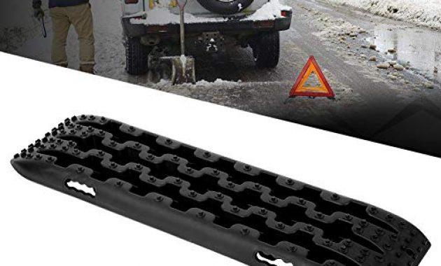 grossen reifenleiter 2 stucke 10 t fahrzeug recovery traction tracks sandschlamm schnee track reifen leiter fur off road 4x4 107 x 30 x 5 cmschwarz bild
