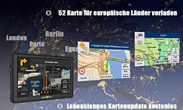 grossen sunways navi 5 zoll navigation fur auto touchscreen lkw navigationsgerat mit blitzerwarnung sprachfuhrung fahrspurassistent mit eu uk 52 karten 2019 ausfuhrung lebenslang eu karten foto