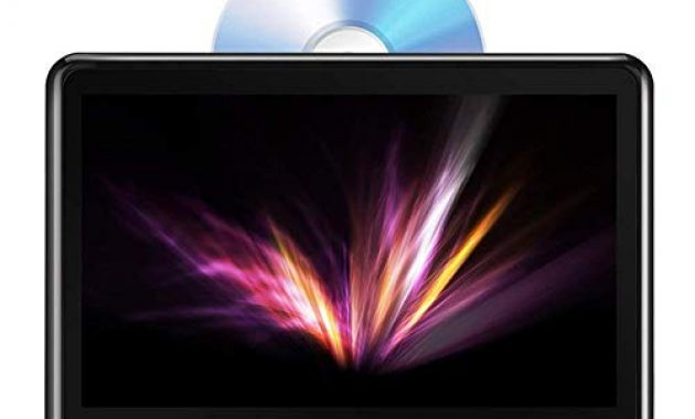 grossen tablet android 60 i tragbarer dvd player 101 zoll i ips touchscreen autokopfstutze multimedia monitor i bluetooth 40 i eingebauter 4000mah akku unterstutzt hdmi fm wifi foto