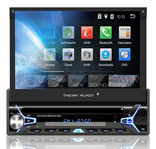 grossen tristan auron bt1d7022a autoradio mit android 81 7 touchscreen bildschirm gps navigation bluetooth freisprecheinrichtung quad core prozessor mirrorlink usb sd obd 2 dab i 1 d bild