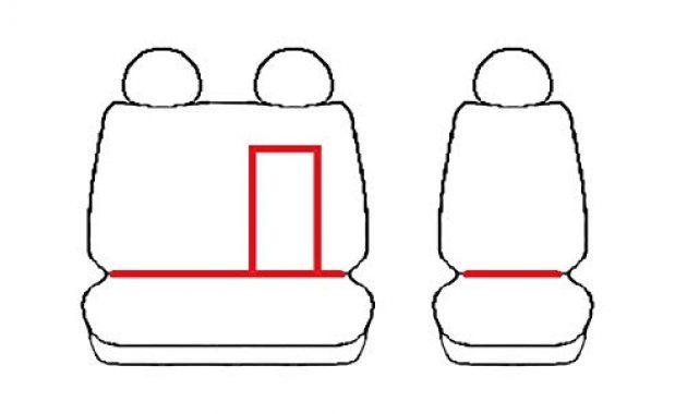 grossen z4l sitzbezuge custo rot schwarz passgenau ideal angepasst kleintransporter 4dv cu 3m jdb 02 foto