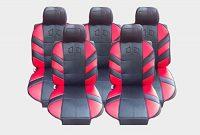 schone 5x sitze autositzauflage auflage autositz rot sitzschutz foto