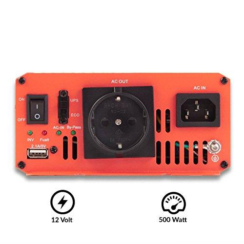 schone ective 500w 12v zu 230v tsi serie reiner sinus wechselrichter mit nvs in 6 varianten 500w 3000w bild