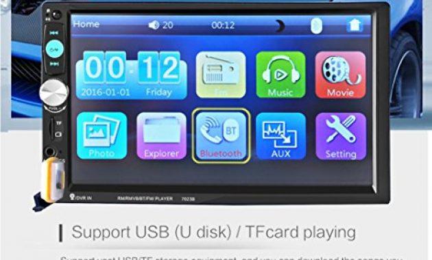 schone lacaca 178 cm hd touchscreen indash auto stereo mp5 player unterstutzung bluetooth fmsdusbaux eingang freisprechfunktion anrufe macht ausgang fernbedienung bild