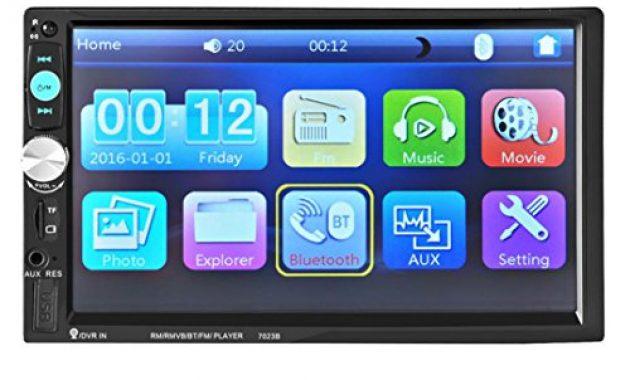 schone lacaca 178 cm hd touchscreen indash auto stereo mp5 player unterstutzung bluetooth fmsdusbaux eingang freisprechfunktion anrufe macht ausgang fernbedienung foto