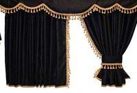 wunderbare adomo lkw gardinen passend zu fh4 und fh in schwarz gold bild