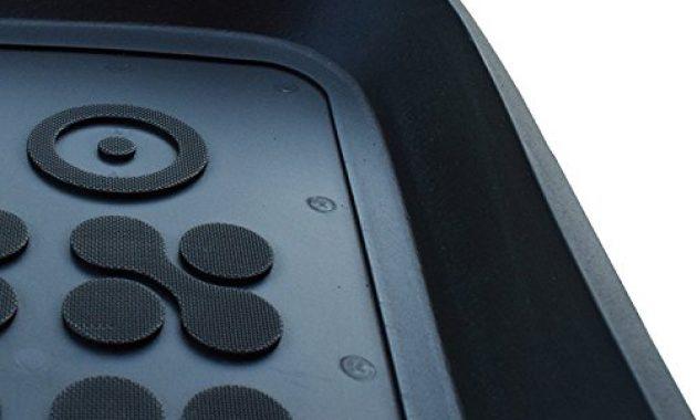 wunderbare ame set auto gummimatten fussmatten mit schmutzrand geruch vermindert anti rutsch oberflache und befestigungskit kofferraum wanne schutzmatte fur den laderaum 200319rg 232037k bild